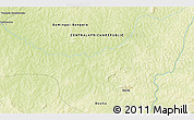 """Physical 3D Map of the area around 6°59'36""""N,20°28'30""""E"""