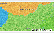 """Political 3D Map of the area around 6°59'36""""N,20°28'30""""E"""