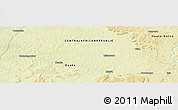 "Physical Panoramic Map of the area around 6° 59' 36"" N, 21° 19' 30"" E"