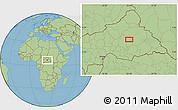 "Savanna Style Location Map of the area around 6°59'36""N,22°10'29""E"