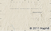 """Shaded Relief Map of the area around 6°59'36""""N,23°52'30""""E"""