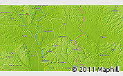 """Physical 3D Map of the area around 6°59'36""""N,2°37'30""""E"""