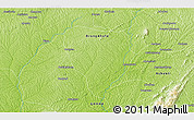 """Physical 3D Map of the area around 6°59'36""""N,2°28'30""""W"""