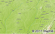 """Physical Map of the area around 6°59'36""""N,2°28'30""""W"""