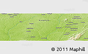 """Physical Panoramic Map of the area around 6°59'36""""N,2°28'30""""W"""