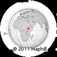 Outline Map of Mizan Teferi, rectangular outline