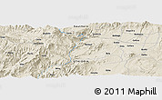 Shaded Relief Panoramic Map of Bodītī