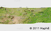 Satellite Panoramic Map of Dembara