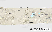 Shaded Relief Panoramic Map of Gogi