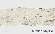 Shaded Relief Panoramic Map of Hubo