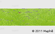 "Physical Panoramic Map of the area around 6° 59' 36"" N, 3° 28' 30"" E"