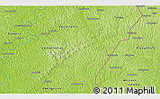 """Physical 3D Map of the area around 6°59'36""""N,3°19'30""""W"""