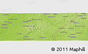 """Physical Panoramic Map of the area around 6°59'36""""N,3°19'30""""W"""