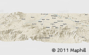 Shaded Relief Panoramic Map of Robē