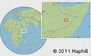 "Savanna Style Location Map of the area around 6°59'36""N,45°7'30""E"