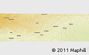 "Physical Panoramic Map of the area around 6° 59' 36"" N, 45° 7' 30"" E"