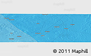 """Political Panoramic Map of the area around 6°59'36""""N,45°7'30""""E"""
