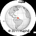 Outline Map of Fort Island, rectangular outline