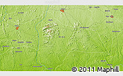 """Physical 3D Map of the area around 6°59'36""""N,5°10'30""""E"""