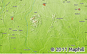 """Physical Map of the area around 6°59'36""""N,5°10'30""""E"""