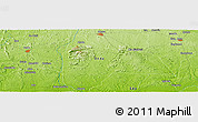 """Physical Panoramic Map of the area around 6°59'36""""N,5°10'30""""E"""