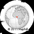 Outline Map of Efandion Road, rectangular outline