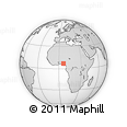 Outline Map of Afua Street, rectangular outline