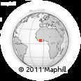 Outline Map of Daloa, rectangular outline