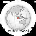 Outline Map of Teluknaga, rectangular outline