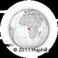 Outline Map of Muanda, rectangular outline