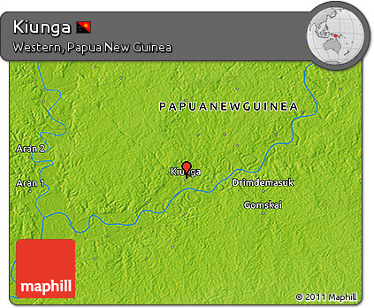 Physical 3D Map of Kiunga