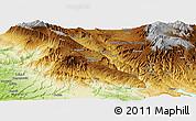 Physical Panoramic Map of Iabim