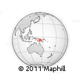 Outline Map of Mambi, rectangular outline