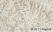 """Shaded Relief Map of the area around 6°7'16""""S,145°25'30""""E"""