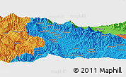 Political Panoramic Map of Andavaiyufa