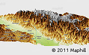 Physical Panoramic Map of Sakam