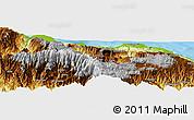 Physical Panoramic Map of Dokalang