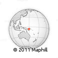 Outline Map of Au, rectangular outline
