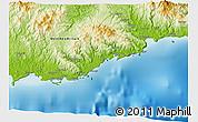 Physical 3D Map of Yamalong