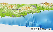 Physical Panoramic Map of Wowonga