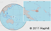 Gray Location Map of Atu