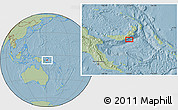 Savanna Style Location Map of Atu, hill shading