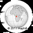 Outline Map of Zemba-Munene, rectangular outline