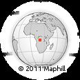 Outline Map of Kateya, rectangular outline