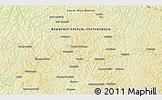 """Physical 3D Map of the area around 6°7'16""""S,21°19'30""""E"""