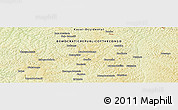 """Physical Panoramic Map of the area around 6°7'16""""S,21°19'30""""E"""