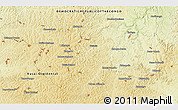 """Physical 3D Map of the area around 6°7'16""""S,23°1'29""""E"""