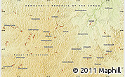 """Physical Map of the area around 6°7'16""""S,23°1'29""""E"""