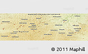 """Physical Panoramic Map of the area around 6°7'16""""S,23°1'29""""E"""