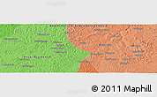 """Political Panoramic Map of the area around 6°7'16""""S,23°1'29""""E"""